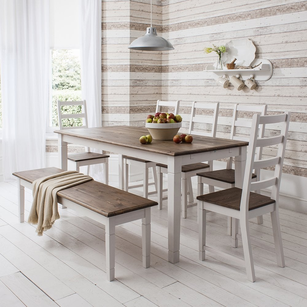 Buy Bronx Dining Table And Bench Set From The Next Uk Online Shop